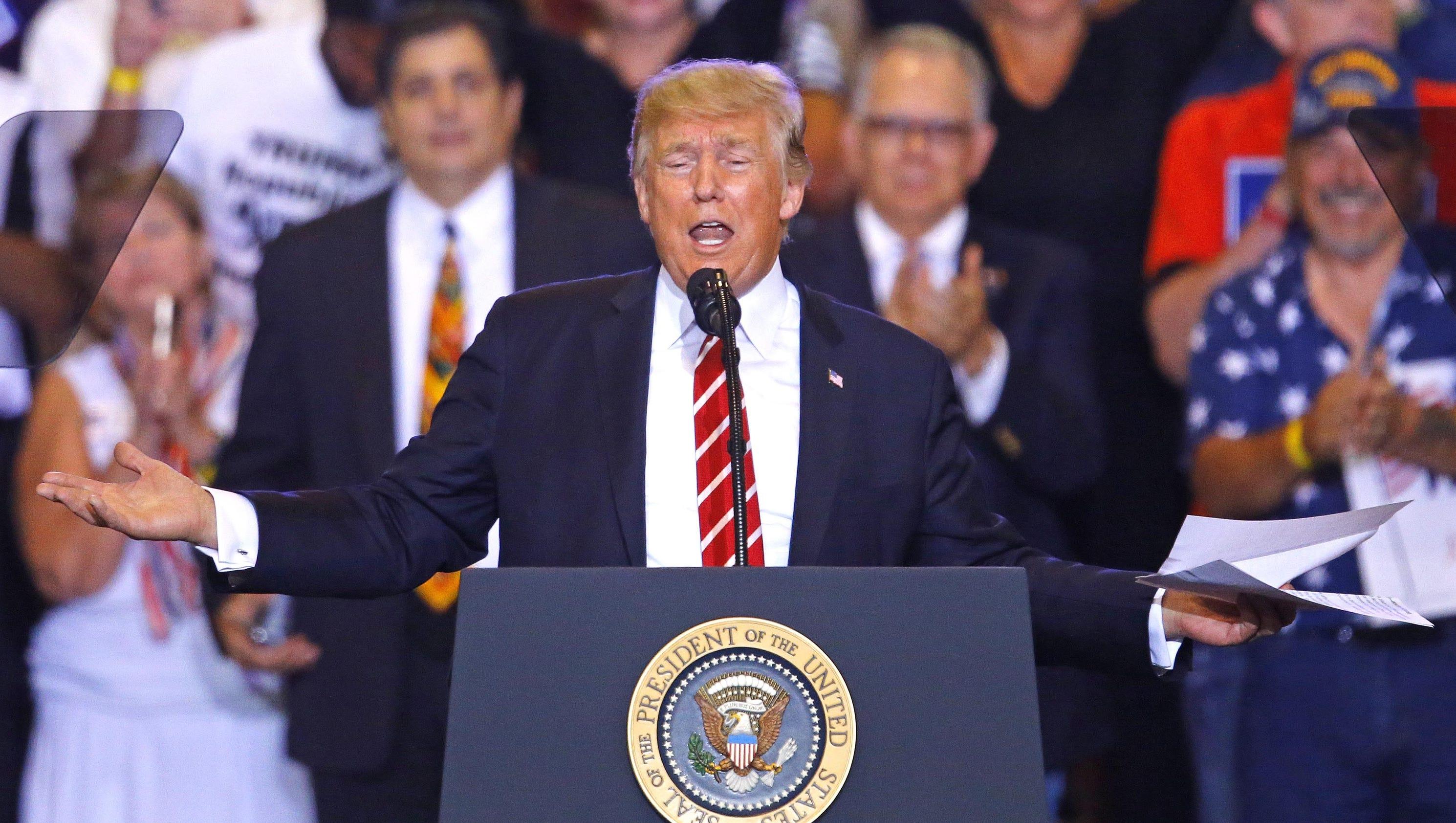 Fact check: At Phoenix rally, Trump revises history, exaggerates accomplishments and makes false claims