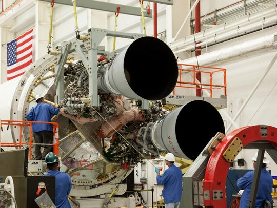 Two RD-181 engines are integrated with the Antares