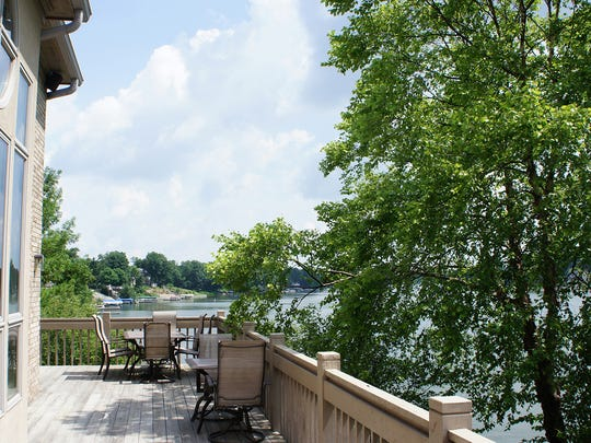 The deck at the home at 1326 Whitewater Court.