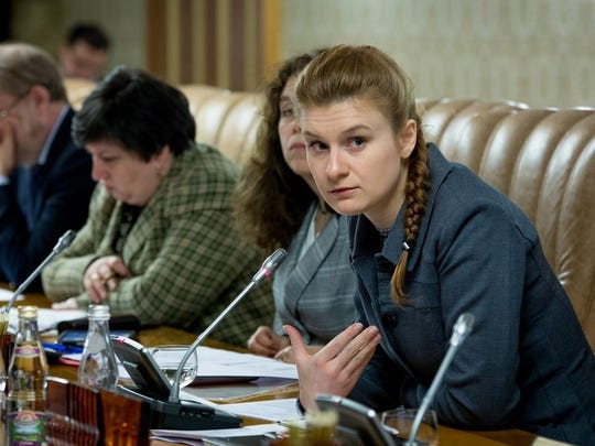 Maria Butina attending a meeting of expert group at the Russian Government in Moscow, Russia.