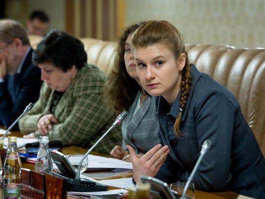 Maria Butina attending a meeting of expert group at