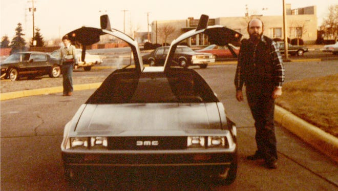 Donald Goldie with the DMC-12 or the DeLorean.