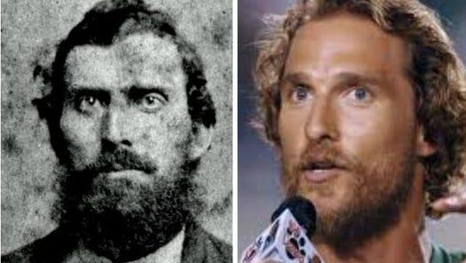 Newton Knight (left) and Matthew McConaughey.