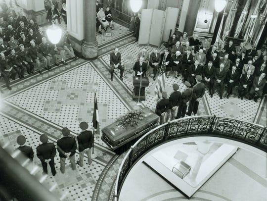 The 1954 Statehouse funeral for Iowa Gov. William Beardsley,