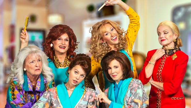 An all-female cast and creative team brought the beloved play Steel Magnolias to life on the Maltz Jupiter Theatre's stage Oct. 28 through Nov.11. Pictured, back row, are Barbara Bradshaw, Kim Cozort Kay, Taylor Jackson and Alison Fraser. Front row: Paige Silvester and Crista Moore.