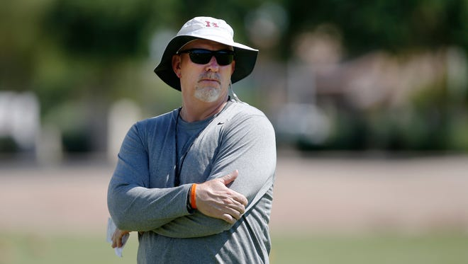"""During a brainstorming meeting among seven Division I football coaches, Chandler Hamilton's Steve Belles turned to Mesa Red Mountain's Ron Wisniewski and, half-joking, asked, """"Can you make a schedule for us?"""""""