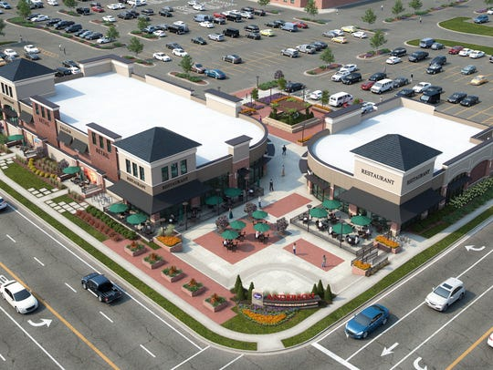 A rendering of the Shoppes of Anderson Towne Center.