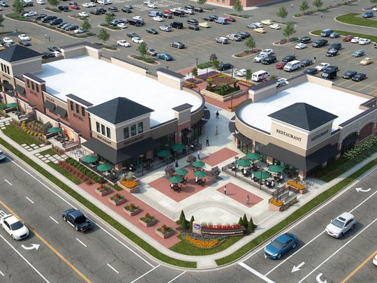 A rendering of the Shoppes of Anderson Towne Center,