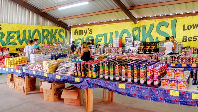 City Commissioners voted at the regular Commission meeting on Aug. 14 to move forward with an ordinance reducing the amount of days residents can use fireworks in the city, such as those shown for sale at Amy's Fireworks on Highway 70 in this Daily News file photo.