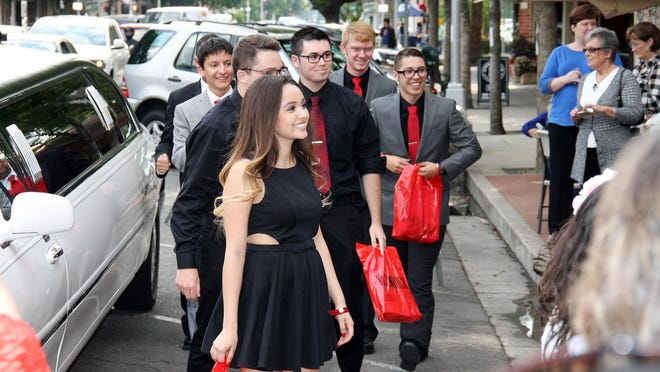 Students will step out of their limousines to walk the red carpet 5:15 p.m. Saturday at the Visalia Fox Theatre during the Slick Rock Student Film Festival.