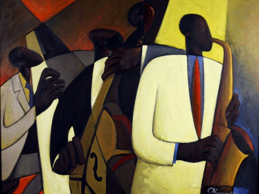 """""""Jazz at Takoma Station"""" by Maryland artist Joseph Deweese Holston is on view in an exhibition opening Oct. 3 at the Washington County Museum of Fine Arts."""