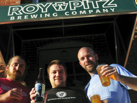 Jesse Rotz, left, and Ryan Richards (co-founders) and head brewer Chris Collier of Roy Pitz Brewing Co., Chambersburg, just received a prominent award for one of their seasonal beers.