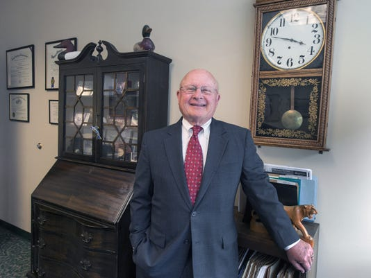 D. Reed Anderson, a lawyer at Stock and Leader, was promoted to vice chairman of the board of directors at Codorus Valley Bancorp and its PeoplesBank subsidiary. The clock in his office formally hung in the York County Courthouse.