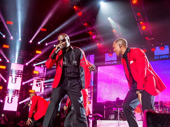 New Edition, including Ralph Tresvant (left) and Ronnie DeVoe, will play Bankers Life Fieldhouse with Kem and Dru Hill on July 16 as part of Indiana Black Expo Summer Celebration.