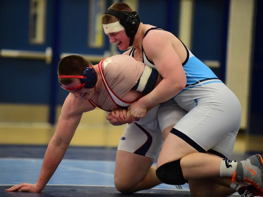 Battling it out in a heavyweight matchup during Wednesday's