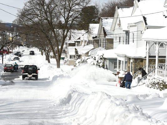 Snowstorm Stella aftermath