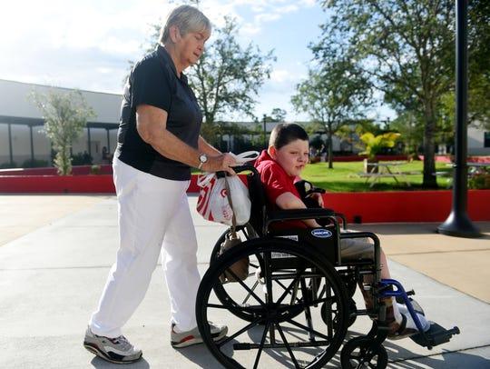 Each morning, Judy Jones meets Vero Beach Elementary