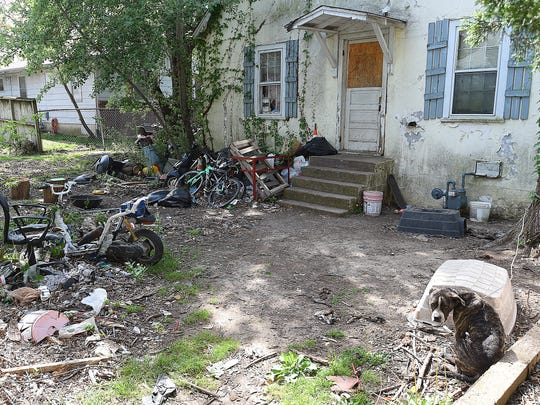 A yard like this one in downtown Mountain Home will catch the attention of the police department's new full time code enforcement officer Sgt. Kevin Litty.