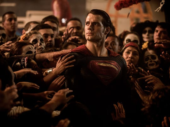 "Henry Cavill, shown here in ""Batman v Superman: Dawn of Justice,"" says ""Superman should be hopeful and bright and light, but at the same time he should have his own personal demons to add some emotional interest."""