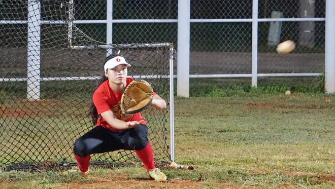 Okkodo senior Sirena Cepeda is the newest member of Lady Guahan, and the only current high school student on the roster for the women's baseball team heading to Hong Kong for an upcoming tournament. Cepeda and her teammates practice at the Talofofo baseball field two or three times per week.