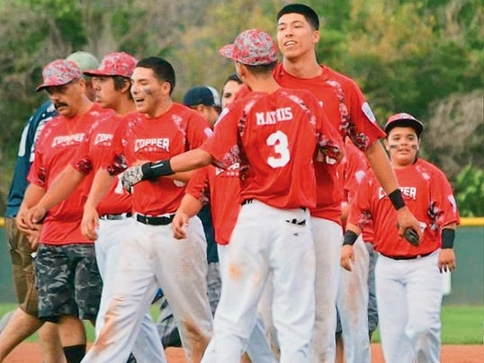 Photo for the Sun-News by Evangeline Dominguez   The Copper All-Stars will represent District 7 and the tri-city during the Senior Boys State Tournament that will be held at Howie Morales Stadium.