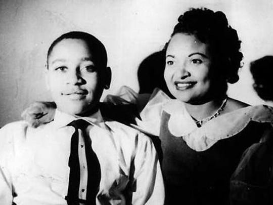 Emmett Till is seen with his mother, Mamie Till Mobley.
