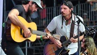 Seth & Scott Avett of the Avett Brothers at the Bonnaroo Music  & Arts Festival on Sunday, June 15, in Manchester, Tenn.