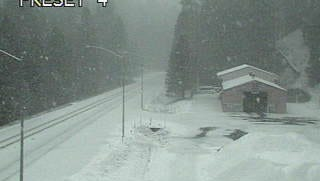 Chains were being required this afternoon on Highway 299 at the Buckhorn Summit.