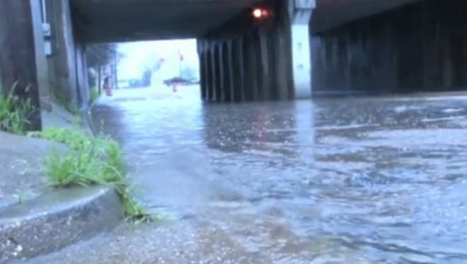 Rain has flooded many areas around Jackson.