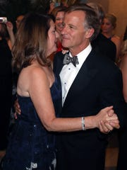 """Crissy Haslam and Gov. Bill Haslam dance to """"The Tennessee Waltz"""" during The Tennessee Waltz event April 28, 2018, at the state Capitol."""