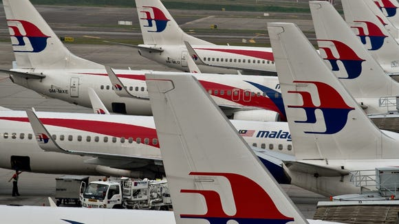 Malaysia Airlines planes at the Kuala Lumpur International