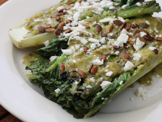 The Grilled Romaine Salad at Taco Shack on North Main