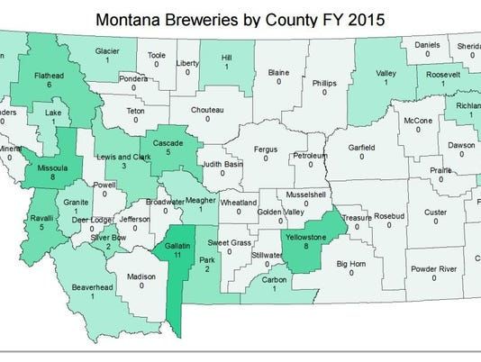 Breweries by county FAL 0215 Beer campaign