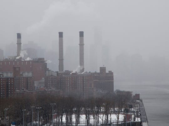 A view of a power plant in New York on March 10, 2017.
