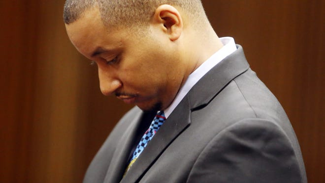 Sen. Virgil Smith is arraigned this morning, Thursday, July 9, 2015, in Wayne County Circuit Court on charges he assaulted his ex-wife in his Detroit home in May.