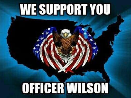 SUPPORT FOR OFFICER WILSON