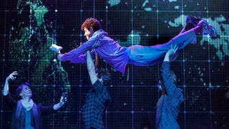 """Adam Langdon as Christopher Boone in the touring production of """"The Curious Incident of the God in the Night-Time."""""""