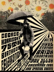 George Harrison birthday show poster