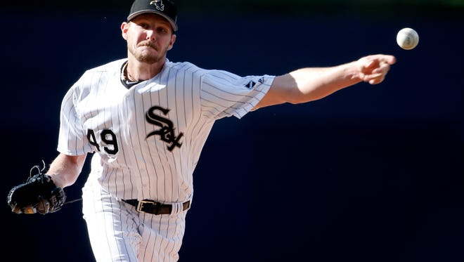 SAN DIEGO, CA - JULY 12:  Starting pitcher Chris Sale #49 of the Chicago White Sox and the American League pitches in the first inning during the 87th Annual MLB All-Star Game at PETCO Park on July 12, 2016 in San Diego, California.  (Photo by Todd Warshaw/Getty Images)