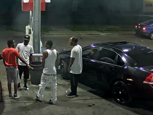 """The Detroit Police Department are searching for five """"persons of interest"""" related to a shooting at the 11100 block of Chalmers on July 7, 2018."""