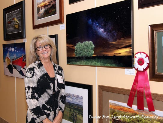 """2016 """"From the Heart"""" juried photography exhibition: Susan Pantuso, second place, flora/landscape, """"The Heavens Declare His Glory."""""""