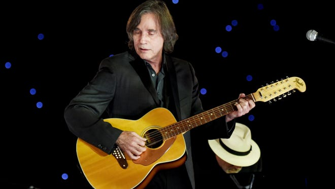 Jackson Browne performs onstage at the 25th anniversary MusiCares 2015 Person Of The Year Gala honoring Bob Dylan at the Los Angeles Convention Center on February 6, 2015 in Los Angeles, California. The annual benefit raises critical funds for MusiCares' Emergency Financial Assistance and Addiction Recovery programs. For more information visit musicares.org.  (Photo by Larry Busacca/Getty Images for NARAS)