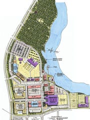 Map of Cross Bayou project's proposed sports complex
