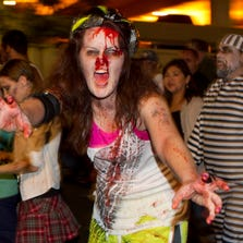 Thousands of people participate in the Zombies Walk 5 in downtown Phoenix.