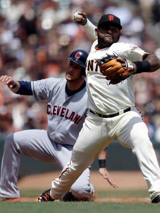 Indians Giants Baseball