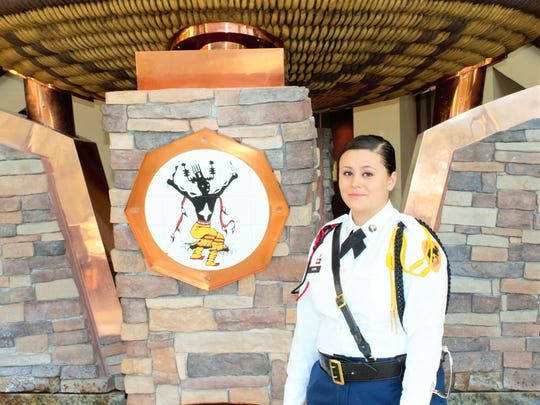 Megan Byers from Mescalero is competing for the Miss Indian World title.