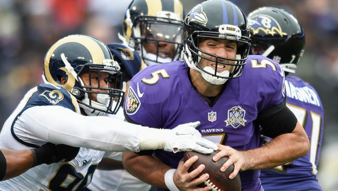 Baltimore Ravens quarterback Joe Flacco is hoping to return at full strength next season after his 2015 campaign was cut short by an injury.