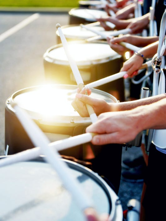 Members of the Central York High School Panther Marching Band drum line practice Wednesday during band practice behind the high school. The high on Wednesday reached 89 degrees at York Airport in Jackson Township, said Carl Erickson, senior meteorologist with AccuWeather.com.