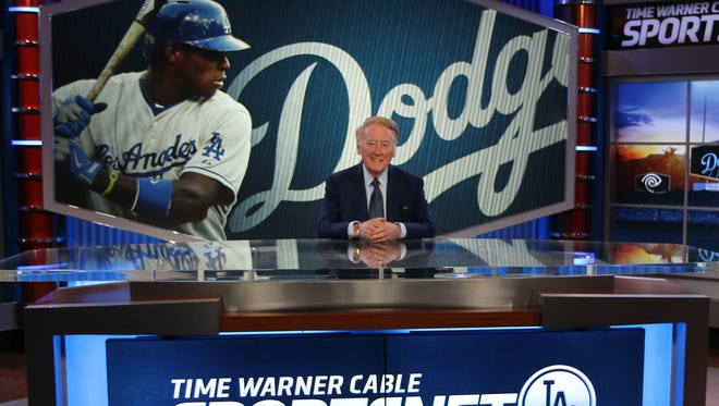 SportsNet LA debuts on Tuesday night. Vin Scully will be broadcasting Dodgers games this season.