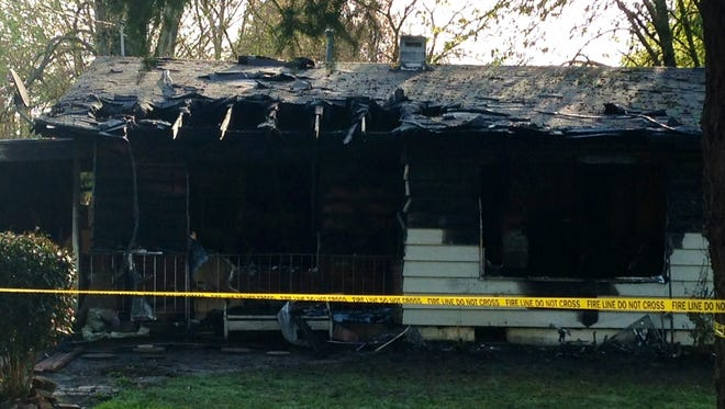 Fire damage at house on Lancaster.